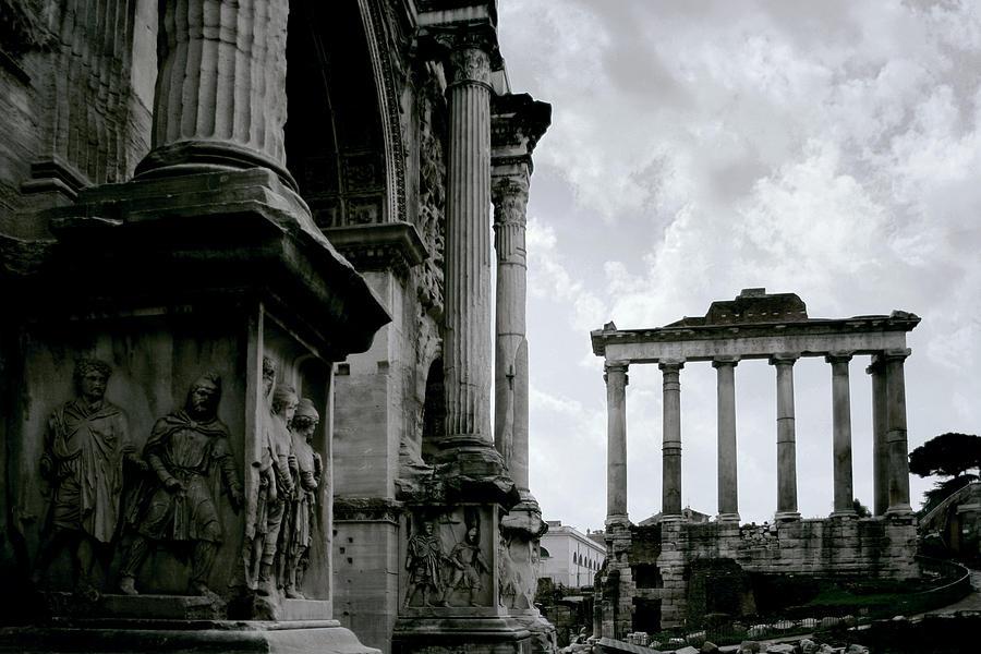 Roman Forum Photograph - The Forum by Warren Home Decor