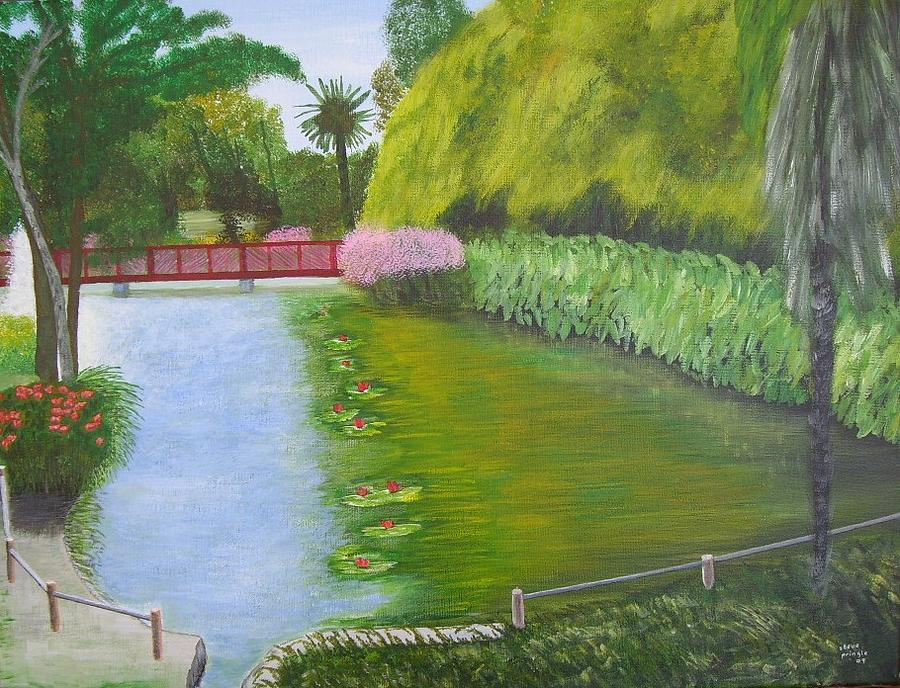 Fountain Painting - The Fountain At St Cyprien-plage by Steve Pringle