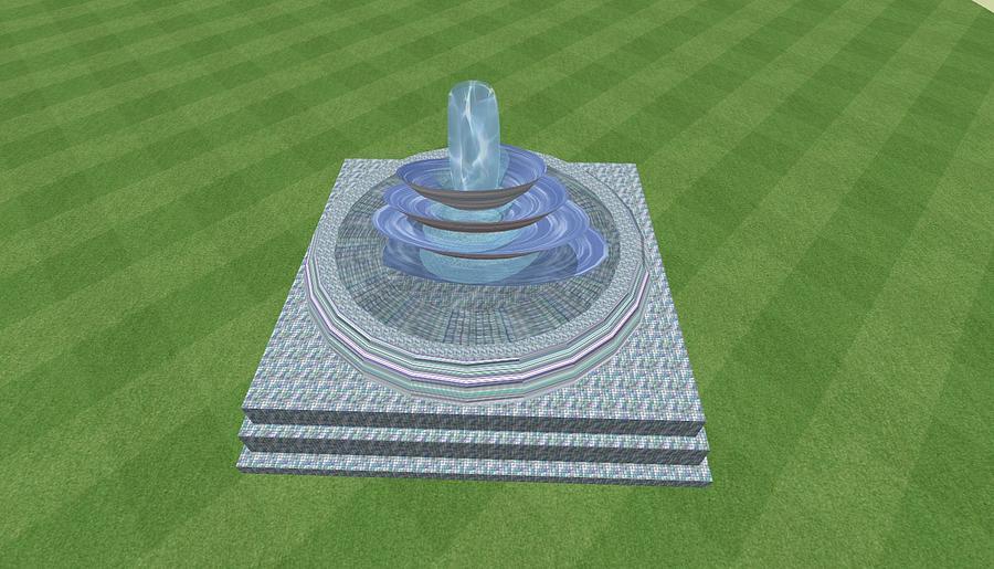 Digital Digital Art - The Fountain by Thomas Smith