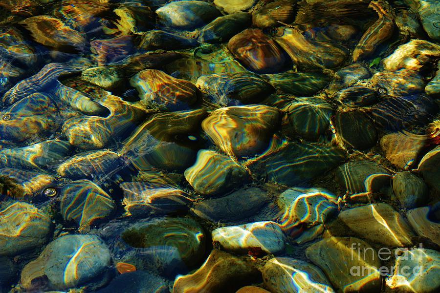 Pebbles Photograph - The Fountain by Virginia Levasseur