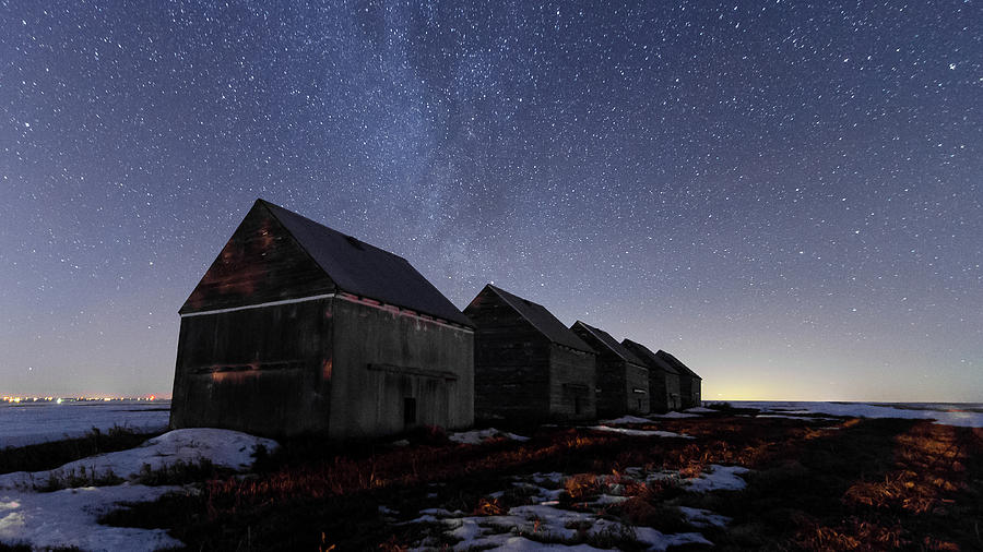 Alberta Photograph - The Four Barns Of Drumheller by Bruno Doddoli