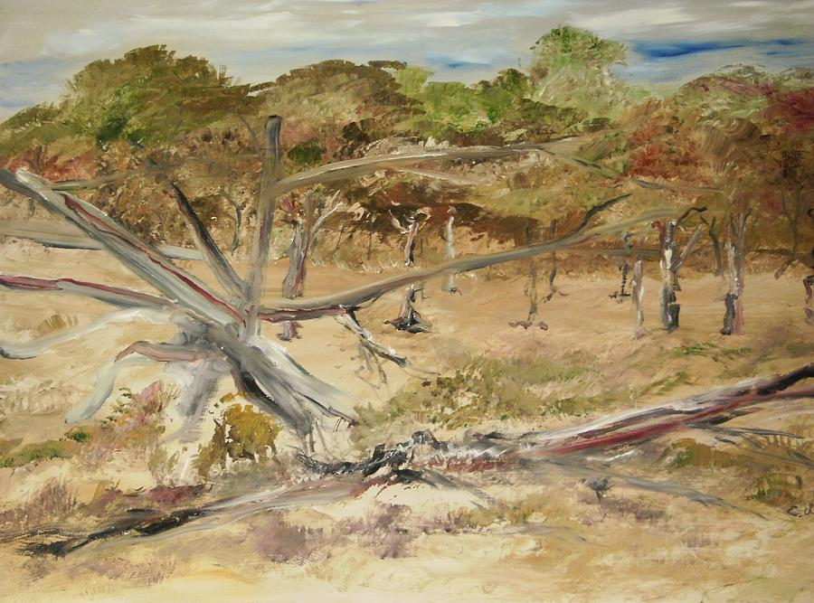 Landscape Painting - The Fourty-niner Highwaytrees by Edward Wolverton