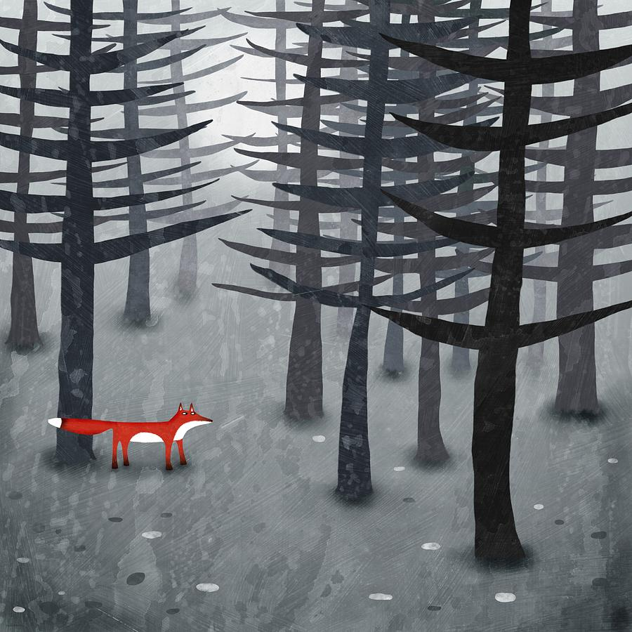 Fox Painting - The Fox And The Forest by Nic Squirrell