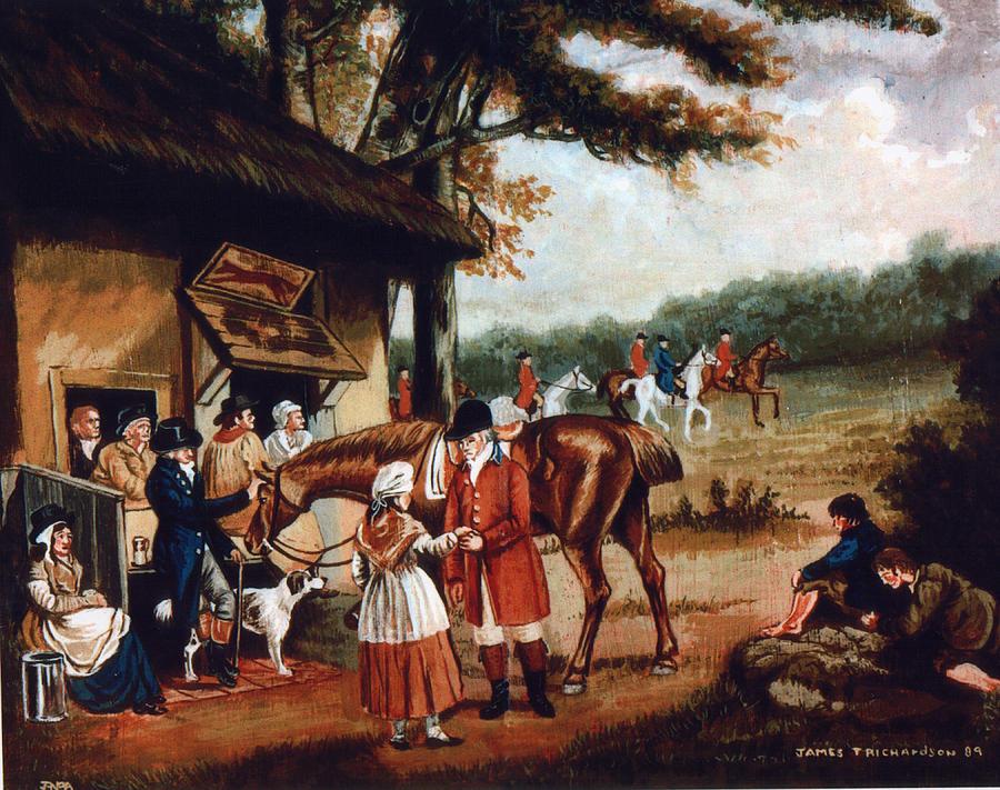 The Fox Inn Painting by James Richardson