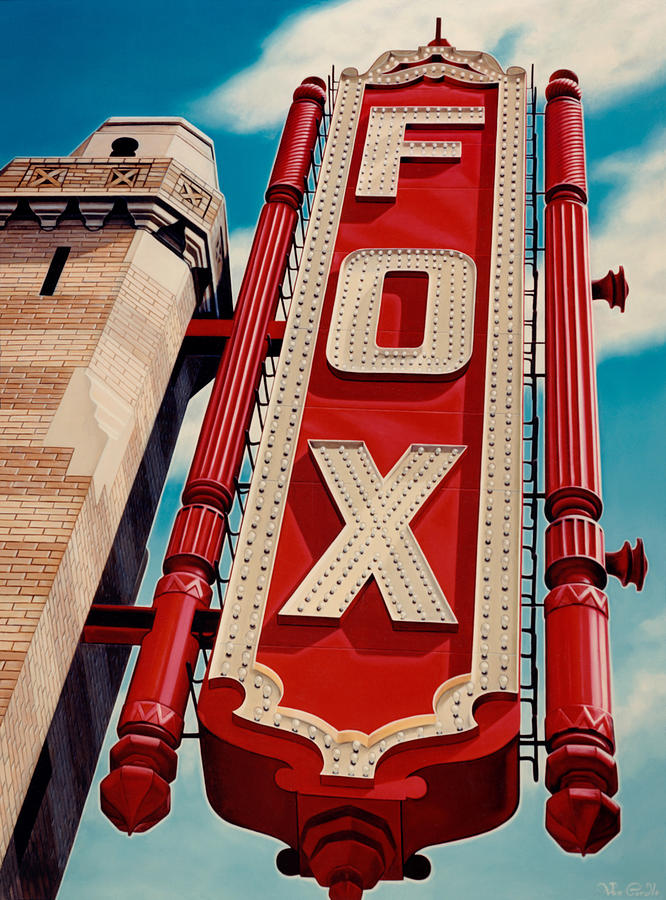 Cityscape Painting - The Fox Theater by Van Cordle