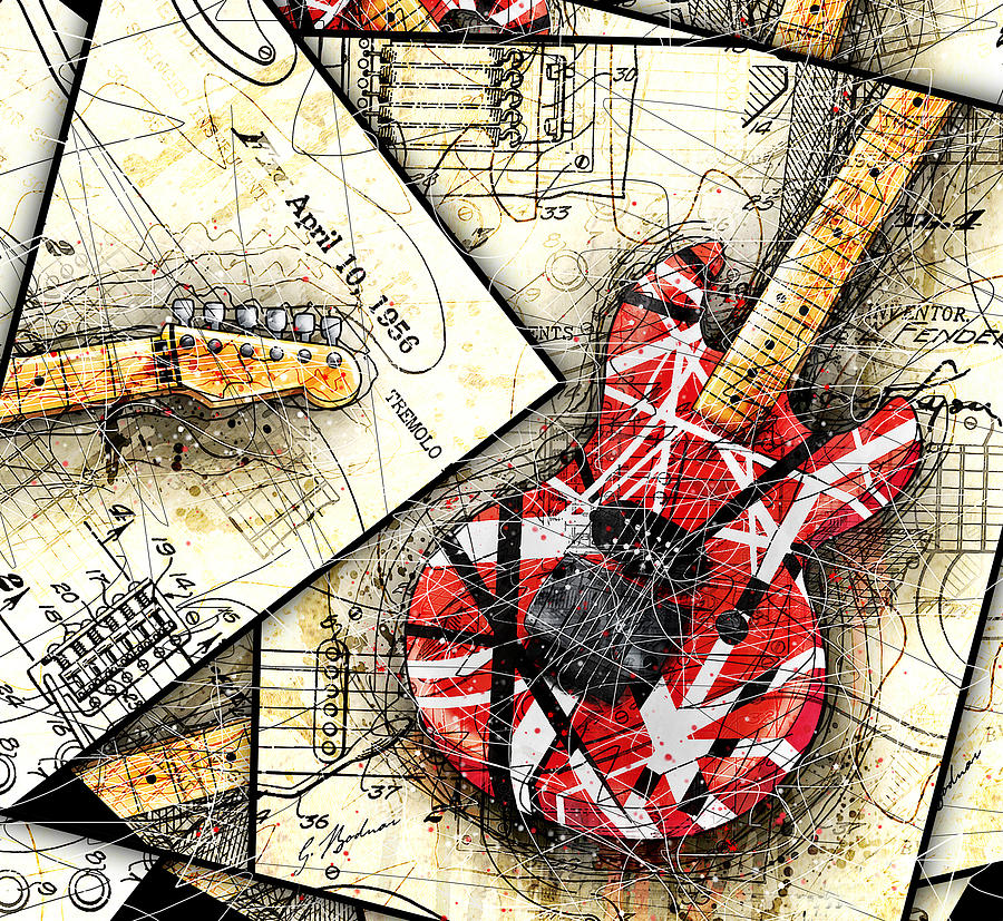 Guitar Digital Art - The Frankenstrat by Gary Bodnar