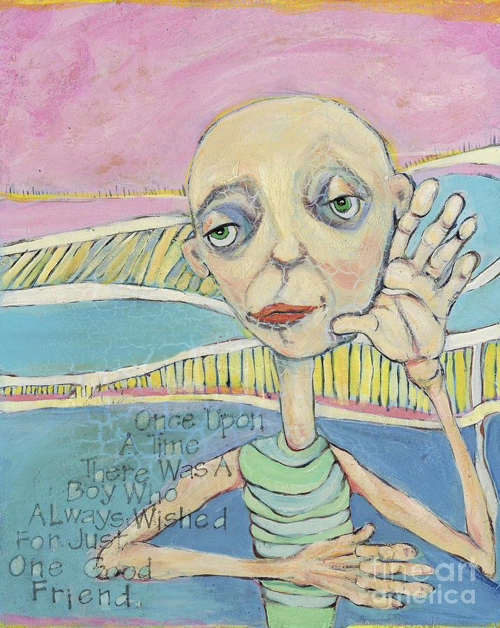 Lost Boy Painting - The Friendless Boy by Michelle Spiziri