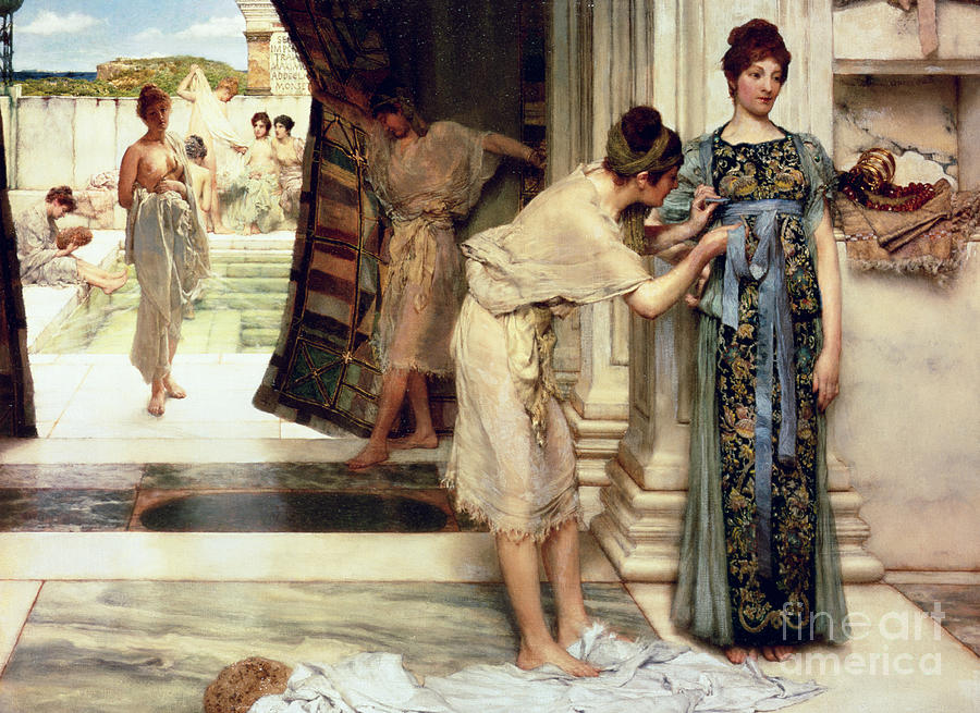 The Frigidarium Painting By Sir Lawrence Alma Tadema