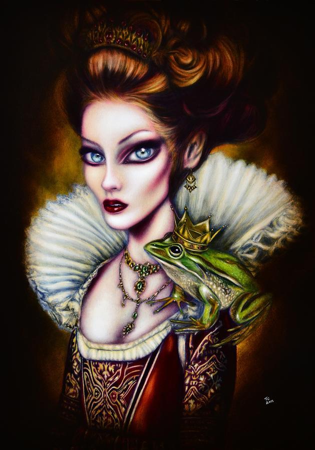 Frog Princess Painting By Tiago Azevedo Pop Surrealism Art Painting