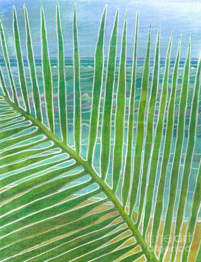 Coconut Painting - The Frond - Bahamas by Amelia at Ameliaworks