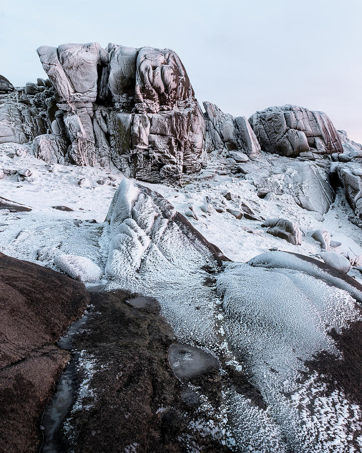 County Down Photograph - The Frozen Peak Of Bearnagh by Glen Sumner