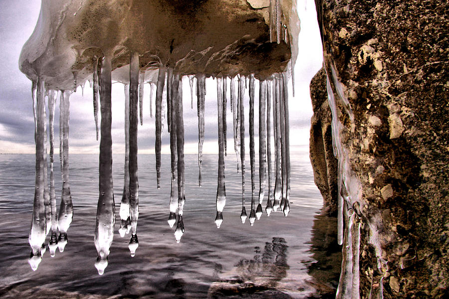 Hdr Photograph - The Frozen Veil by Russell Styles