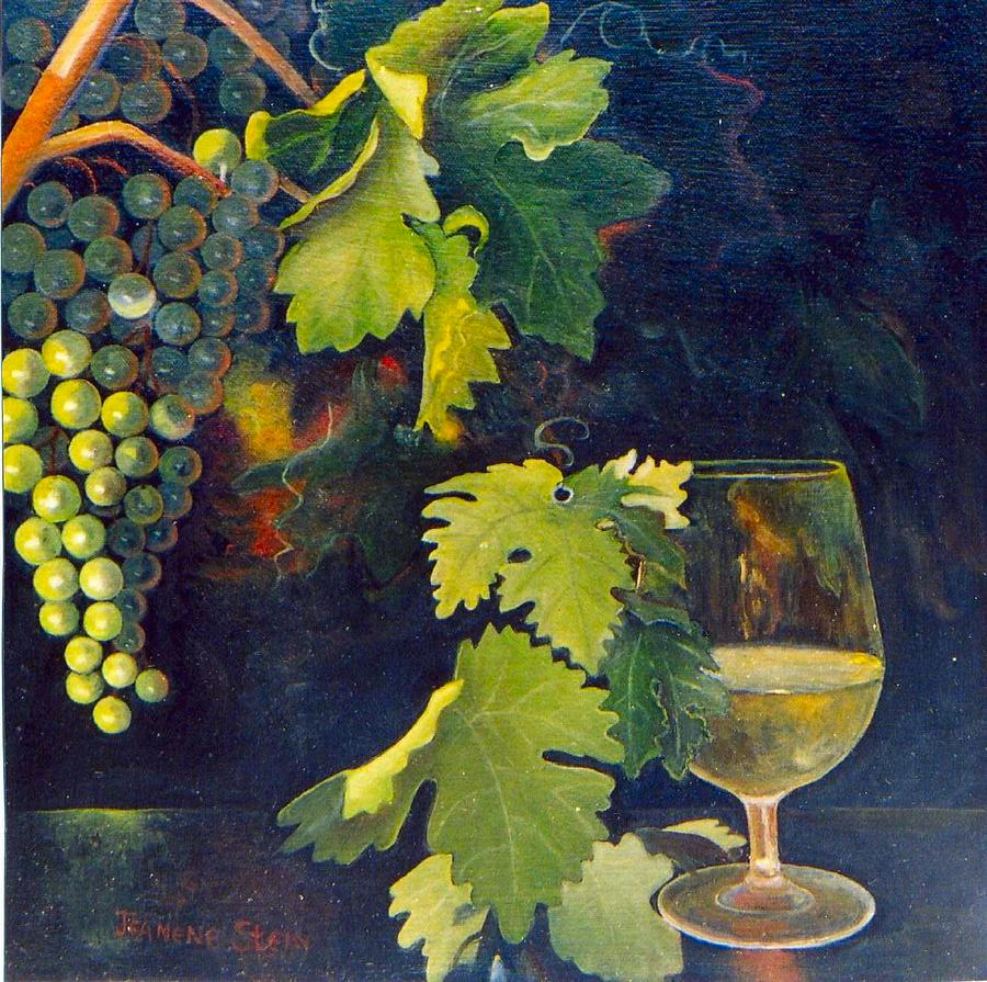 Wine Glass Painting - The Fruit Of The Vine by Jeanene Stein