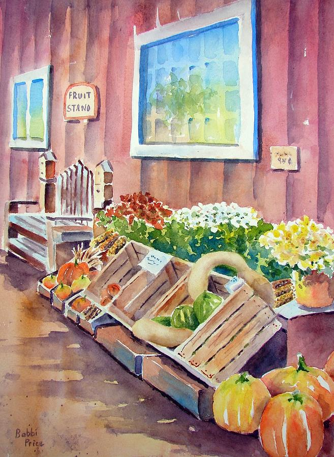 Landscape Painting - The Fruit Stand by Bobbi Price