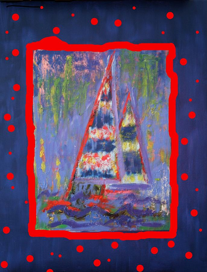 Red Painting - The Fun Of Sailing by Karin Eisermann