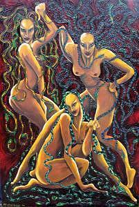 The Furies Painting by Christina Varga