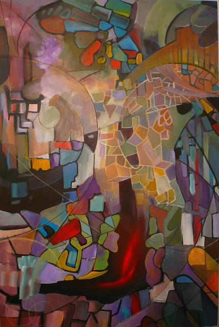Abstract Painting - The Furnace by Anthony  Gambucci