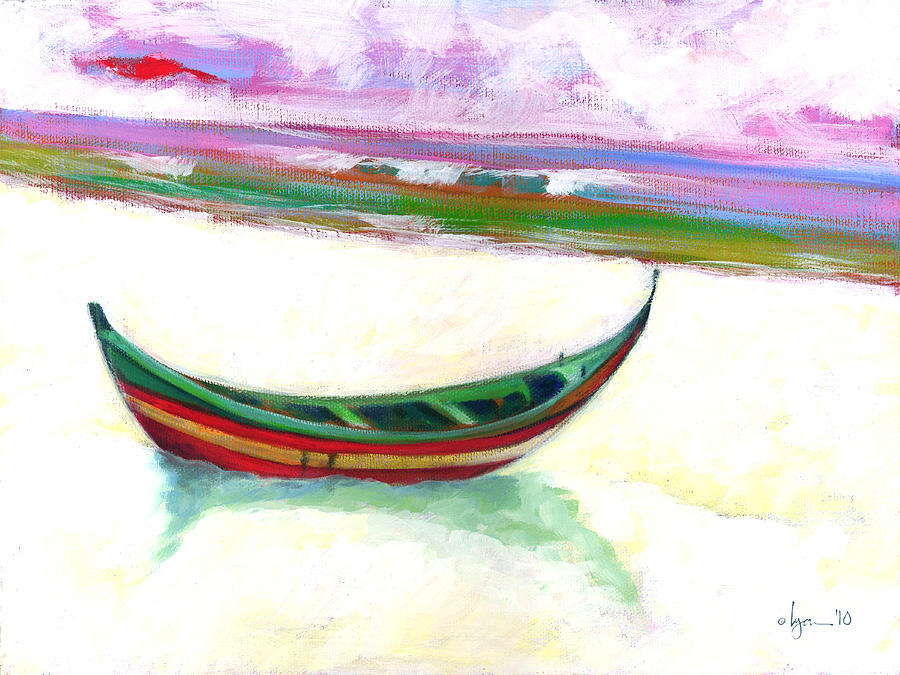 Boats Painting - The Future Is A Mystery by Angela Treat Lyon