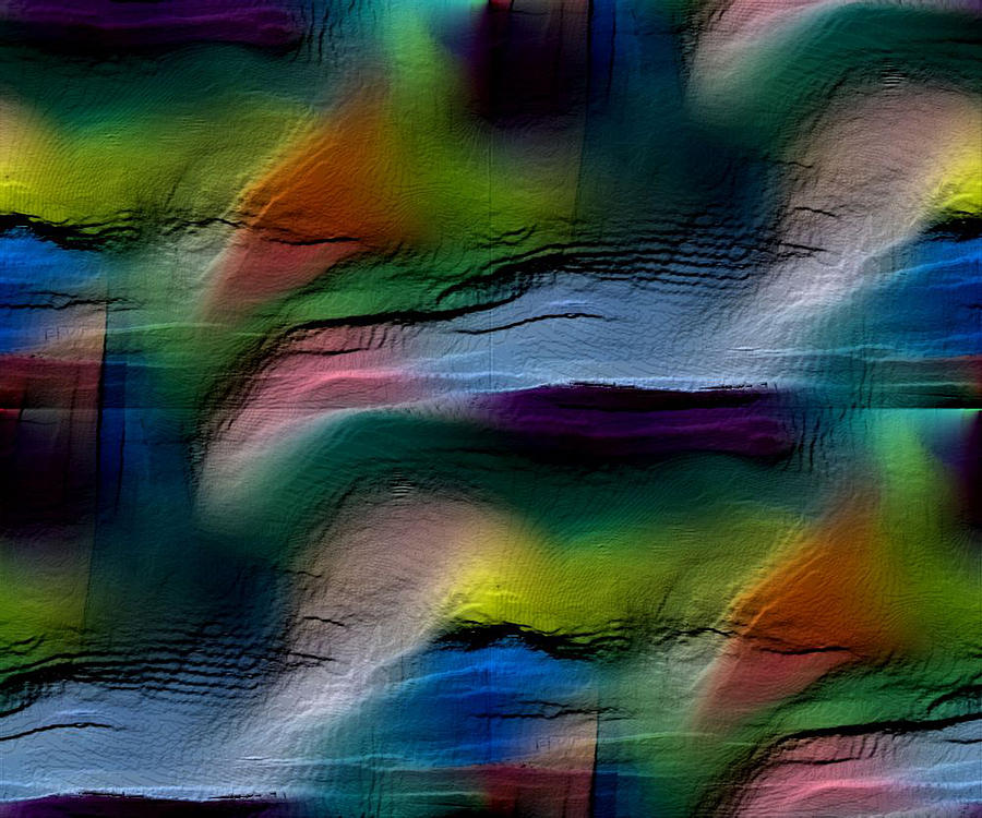Abstract Digital Art - The Future Looks Bright by Ruth Palmer
