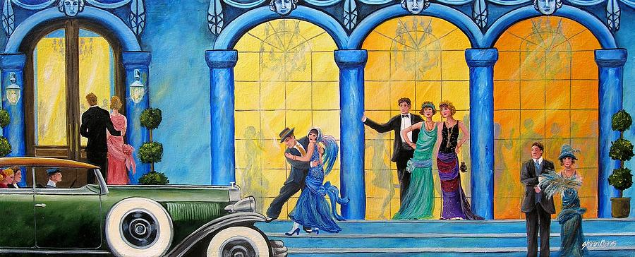Great Gatsby Painting - The Gala by Sharon Kearns