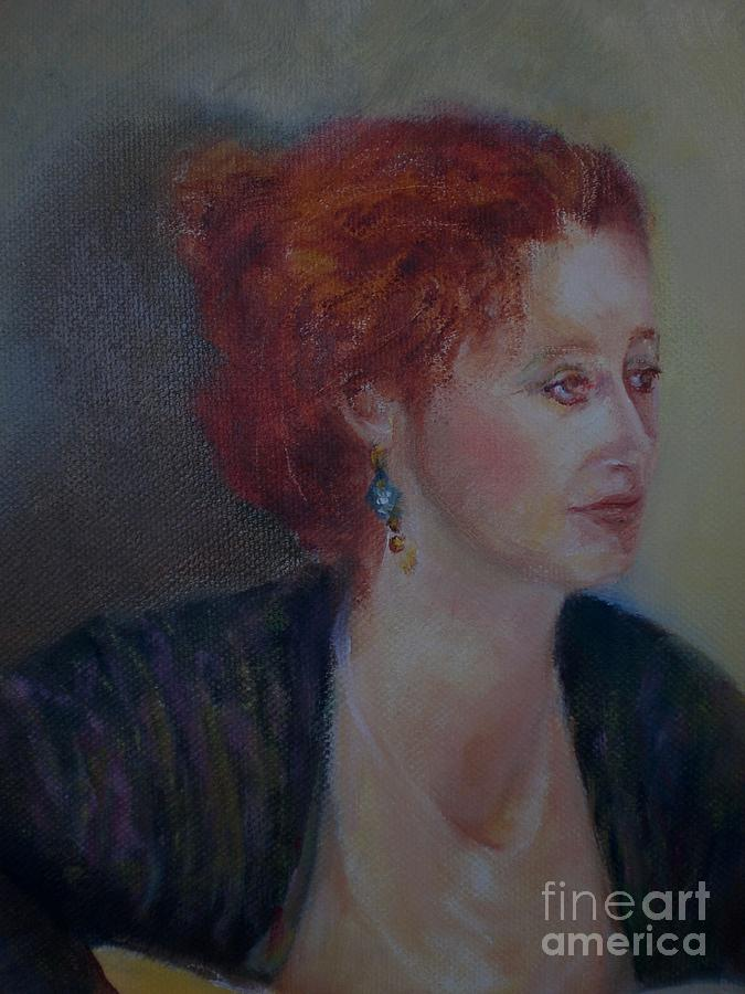 Female Portrait Painting - The Galway Shawl           Copyrighted by Kathleen Hoekstra