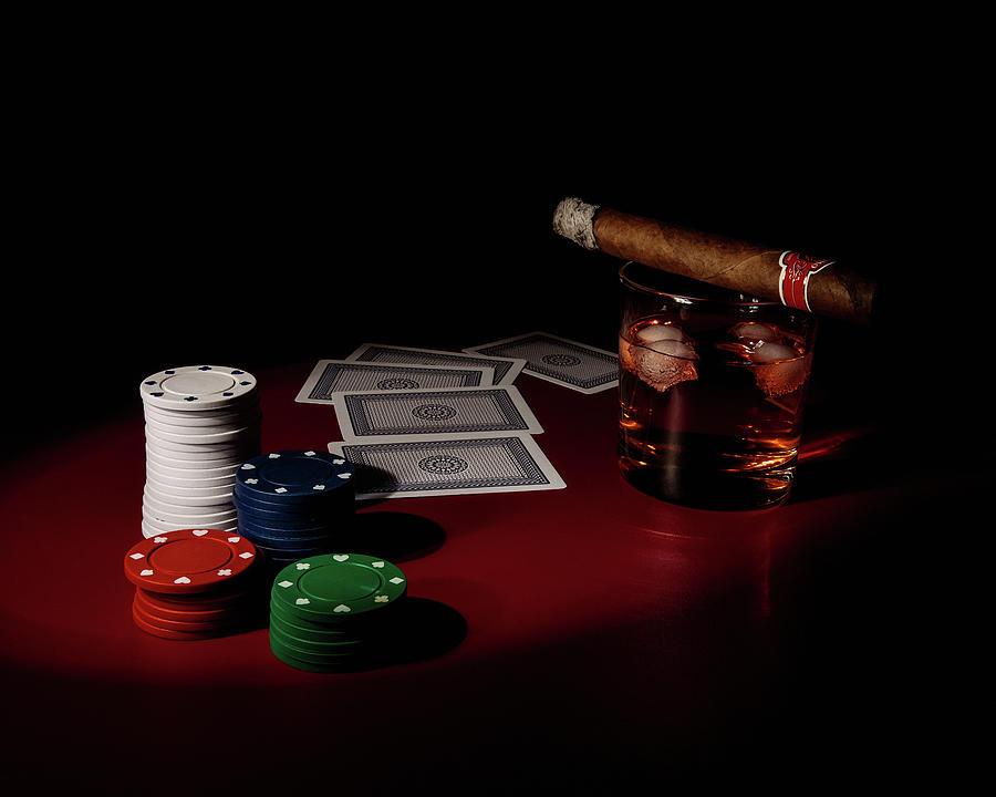 Cards Photograph - The Gambler by Tom Mc Nemar