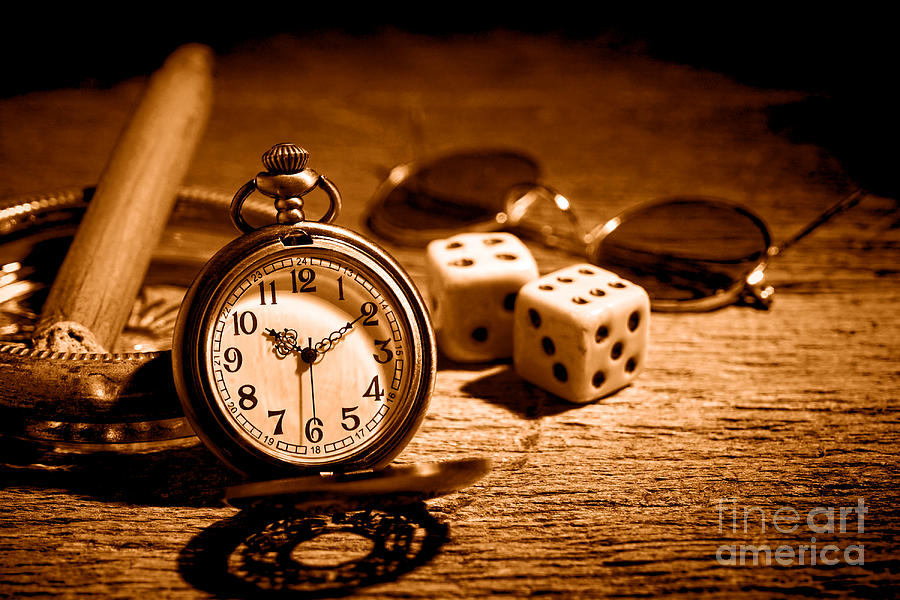 Pocket Photograph - The Gamblers Watch - Sepia by Olivier Le Queinec