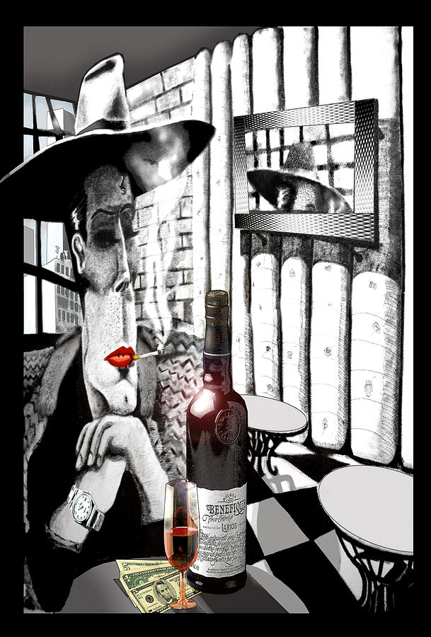 Gangster Mixed Media - The Gangster by Jose Roldan Rendon