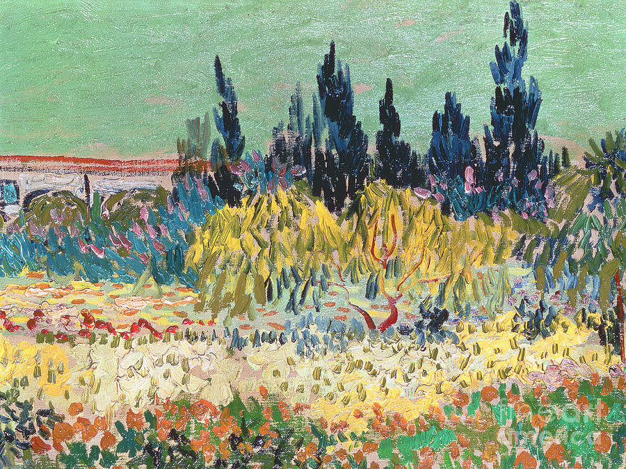 Elegant Arles Painting   The Garden At Arles By Vincent Van Gogh