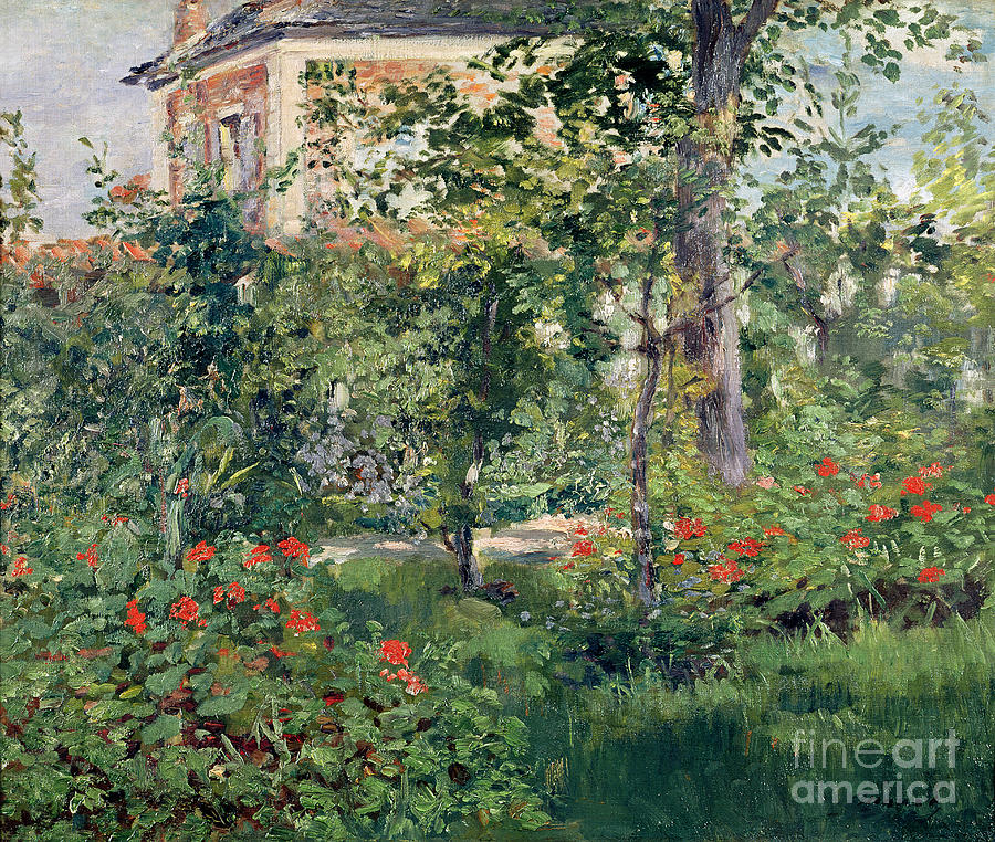 Garden Painting - The Garden At Bellevue by Edouard Manet