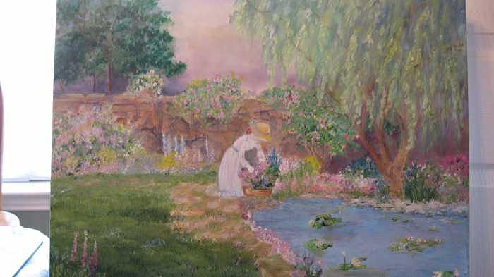 Victorian Garden Painting - The Garden by Colleen DalCanton