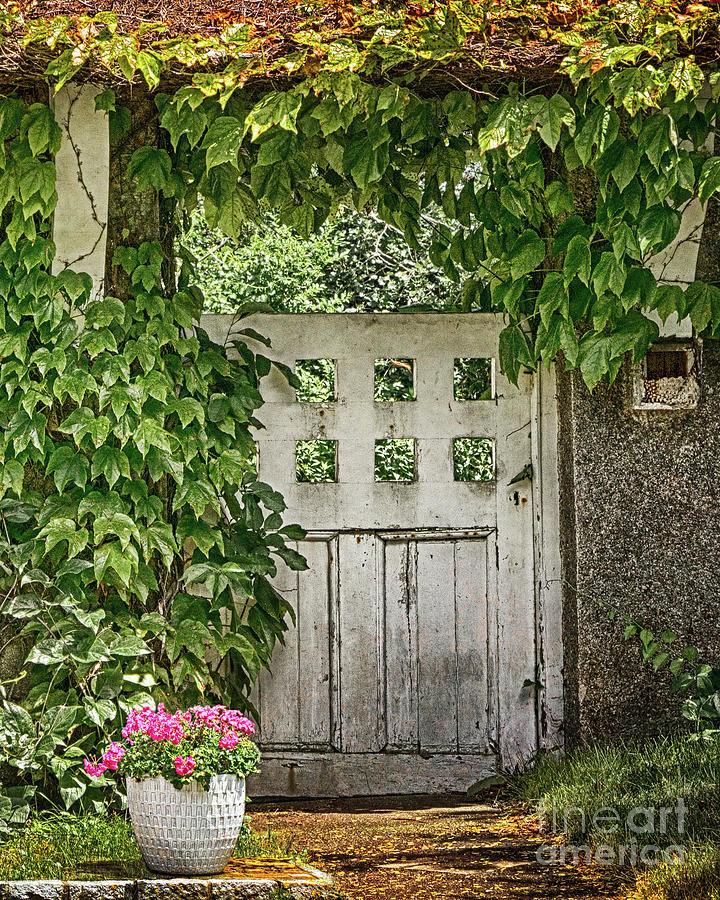 Door Photograph - The Garden Door - V by Robert Anastasi