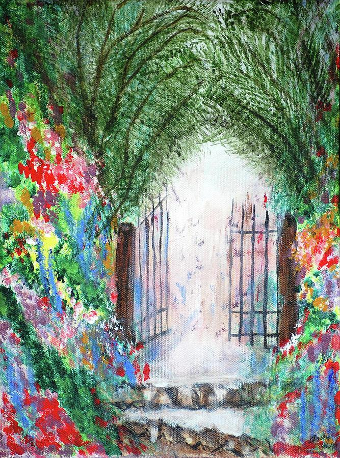 Garden Painting - The Garden Gate by Ann Ingham