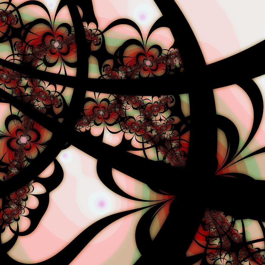 Digital Digital Art - The Garden Gate by Bonnie Bruno