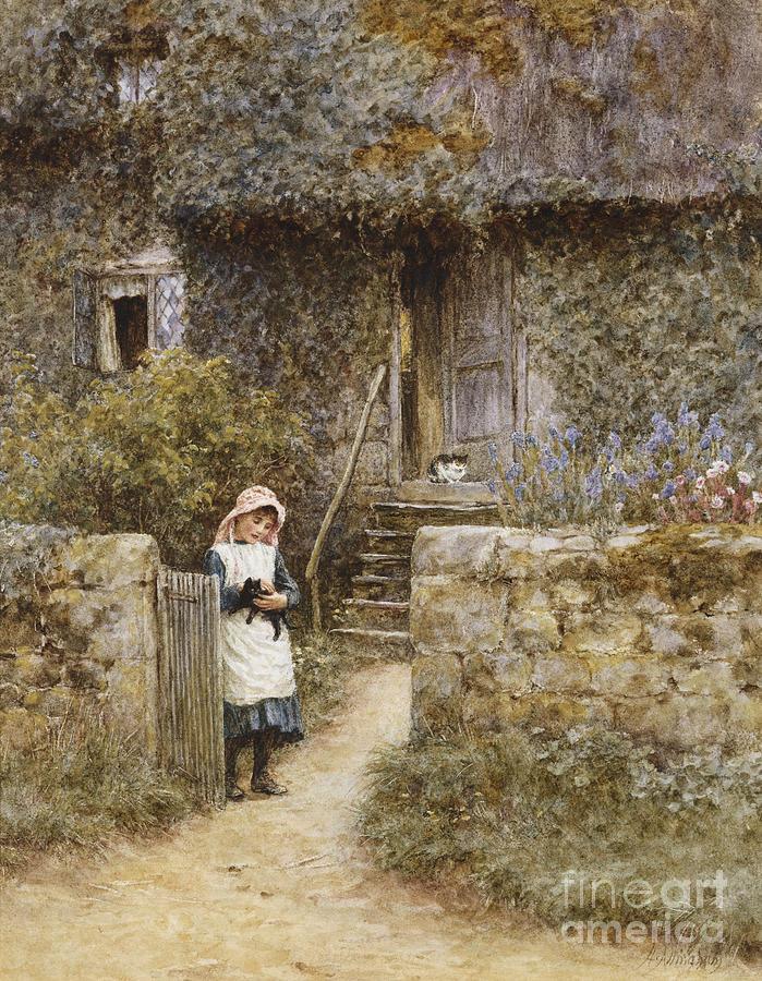 Allingham Painting - The Garden Gate by Helen Allingham
