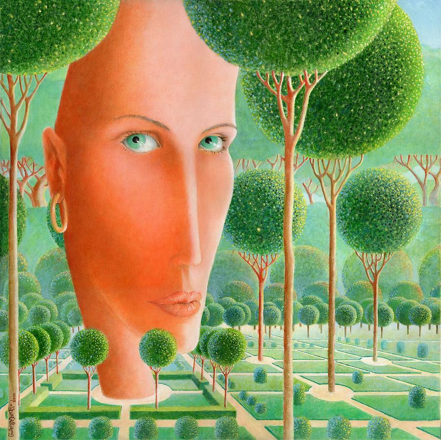 The Garden Painting - The Garden by Giuseppe Mariotti