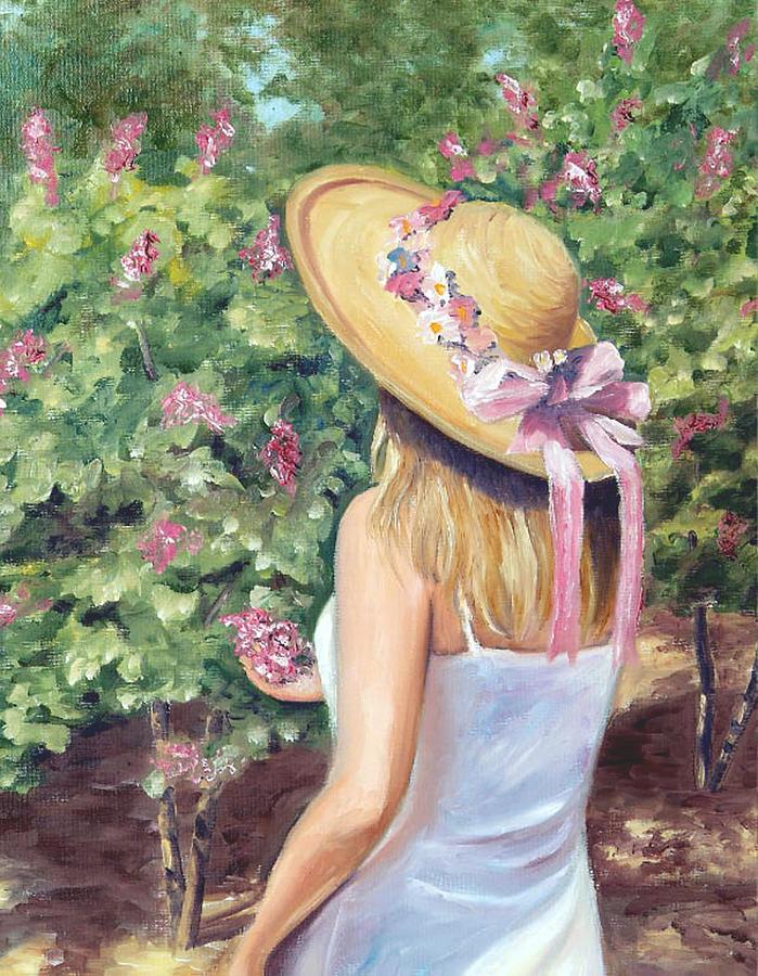 Garden Painting - The Garden Hat by Biki Chaplain