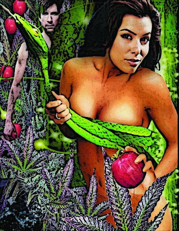 Erotic Mixed Media - The Garden by Michael Vanier