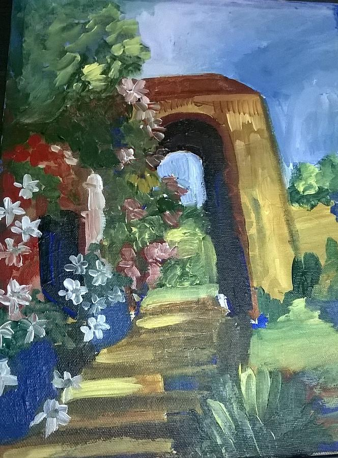 Garden Painting - The Garden  by Miss Ratul Banerjee