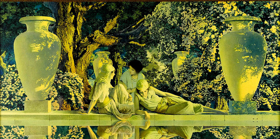 Maxfield Parrish Painting - The Garden Of Allah by Maxfield Parrish