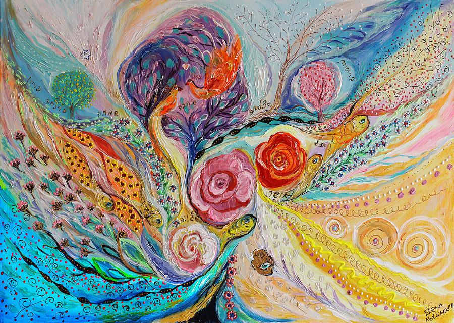 Evil Eye Painting - The Garden Of Dreams by Elena Kotliarker