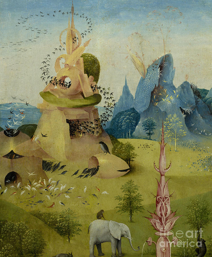 The Garden Of Earthly Delights, Detail Of Left Panel Showing Paradise