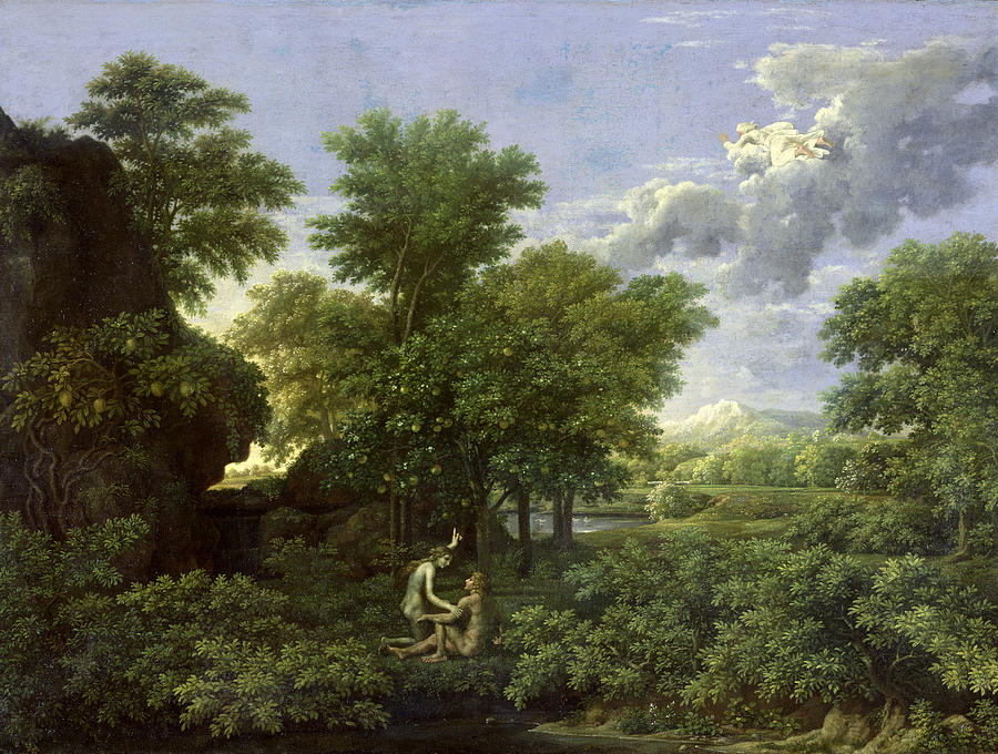 Spring Painting - The Garden Of Eden by Nicolas Poussin