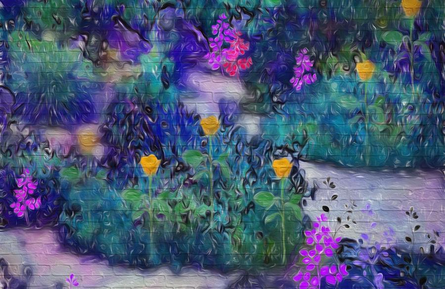 Garden Digital Art - The Garden Of Love by Sherris - Of Palm Springs