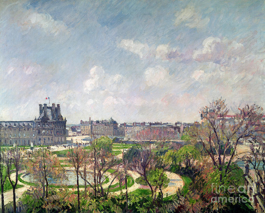 The Painting - The Garden Of The Tuileries by Camille Pissarro