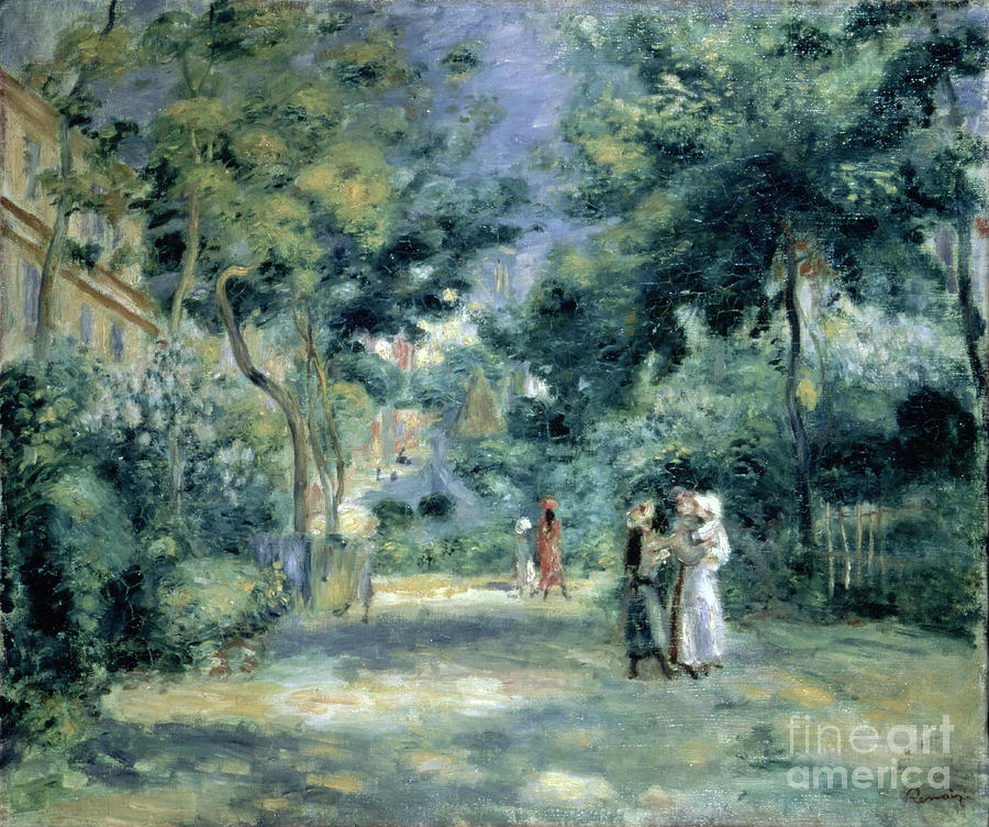 Impressionism Painting - The Gardens In Montmartre by Pierre Auguste Renoir