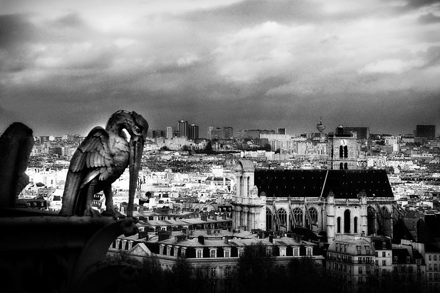 Paris Photograph - The Gargoyles Of Notre Dame by Cabral Stock
