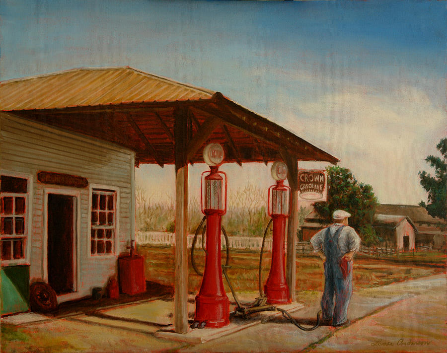 Gasoline Painting - The Gas Caper by Lance Anderson