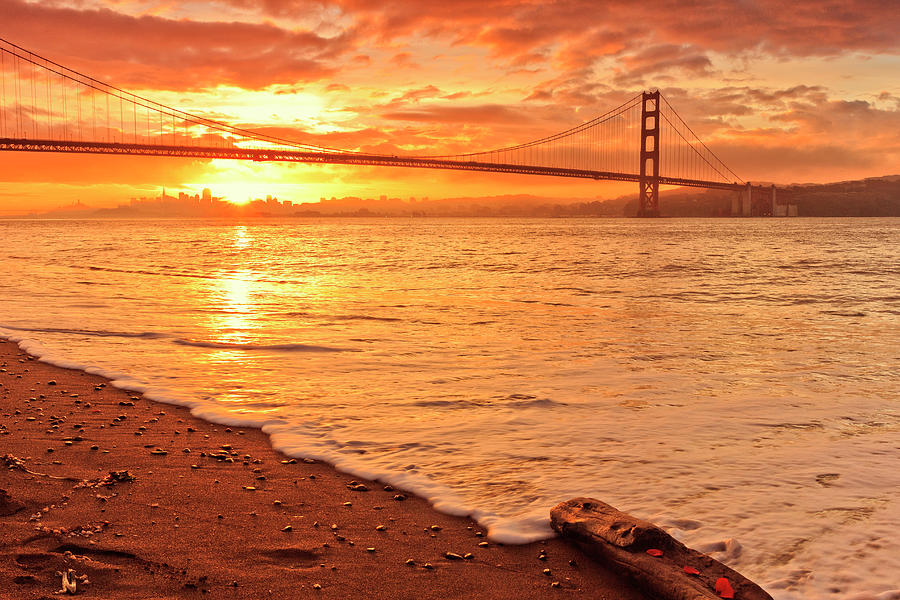 Golden Gate Bridge Photograph - The Gate by Erick Castellon