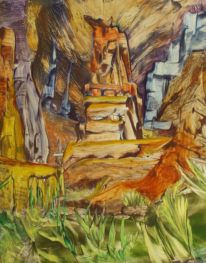 Wax Painting - The Gate by Ibrahim Rahma
